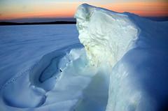 icy precipice (snapstill studio) Tags: winter sunset snow ice bravo michigan lakemichigan greatlakes petoskey littletraversebay martinmcreynolds
