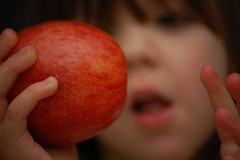 Hannah with Apple