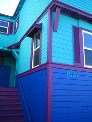 three colors (rick) Tags: sanfrancisco blue house color colors colorful purple teal foundinsf 2007 gwsf