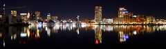 Baltimore Skyline (Aaron Webb) Tags: longexposure reflection skyline night maryland baltimore baltimoremd nightskyline baltimoreskyline calendar07