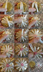 flower tutorial (sunshine's creations) Tags: flower vintage crazy needlework handmade sewing decoration straw tools daisy bloom ribbon weave tutorial loom dasiey 5for2