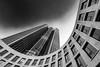 Monotower 185 - 2 (frank_w_aus_l) Tags: frankfurt main tower185 tower monochrome bw noiretblanc germany architecture blacksky dutchangle frankfurtammain hessen deutschland de wow