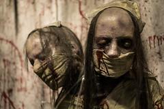 Mutant Nurse (Vail Marston) Tags: nurse horror chicagolandurbexphotography hauntedhouse cook haunted xmas oaklawn house mutant illinois creepy 2016 christmas midnightterror zombie