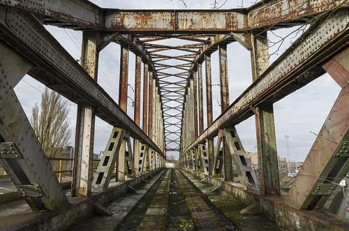 Abandoned railway bridge. 01.03.2015.
