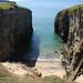Coastal Landform - Narrow Bay  Geo  Pembroke, South Wales, UK