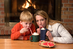 hot cocoa (Vibrant Pixel) Tags: christmas cookies fireplace chocolate cocoa candycanes