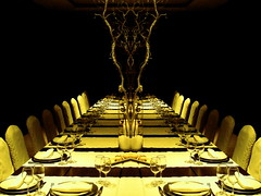 Comedor surreal / Surreal dining room (*atrium09) Tags: light abstract black yellow photoshop topf50 topv555 topv333 bravo olympus symmetry 500v50f tenerife trophy bodegon magicdonkey atrium09 abigfave artlibre ltytrx5 colorphotoaward superaplus aplusphoto ltytr1 ccc1surreal rubenseabra