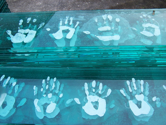 Hand Prints in Glass