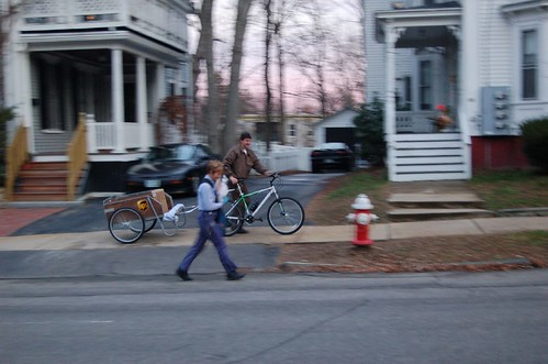 UPS Guy on Bike