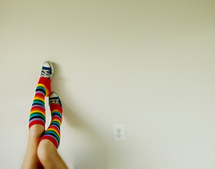 Socks, sockets (chishikilauren) Tags: rainbow converse legwarmers whitewall 365days abigfave specobject theflickrcollection