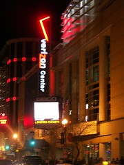 Verizon Center at night