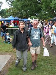 Kathy and Bob at Bellingen Market