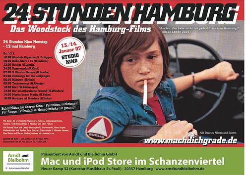 Plakat 24 Stunden Hamburg