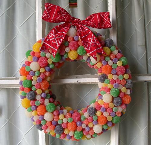 Gumdrop Button Wreath