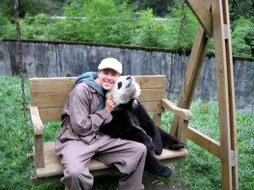 Jugando con los pandas en Wolong