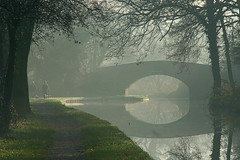 Canal bridge in the mist (c-a-vu) Tags: uk bridge dog mist fog geotagged canal coventry staffordshire tamworth bonehill coventrycanal 25faves anawesomeshot tamworthuk bpostcode bachspicsgallery bigpicture2008 stokeandstaffordshire