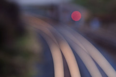 Off the rails (Mark Rutter) Tags: red blur reflection soft all different little madness rails mad curve redlight f5 alternative i20 defocus sof i120 explored blurfection offtherails mataphor markrutter