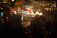 Christmas Hot Dog stand people (lowlight168) Tags: nyc slr digital d50 50mm nikon lowlight168