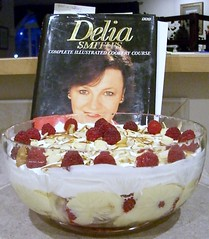 Delia ovelooks my trifle creation