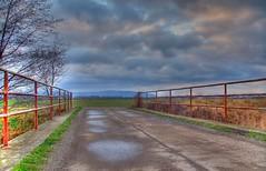 The old bridge (gerhard.1962) Tags: bridge sterreich nature clouds austria bridges brcke niedersterreich hdr korneuburg photomatix tonemapping bridgesandtunnels hdrbeginning