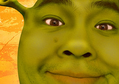 Day 90: Shrek (arkworld) Tags: selfportrait silly green photoshop interestingness shrek photoshopped parody spoof dork 365 lame photoshopfun 365days interestingness75 moodgood idec06 thisisgoingtocreepmydaughterout 365explore