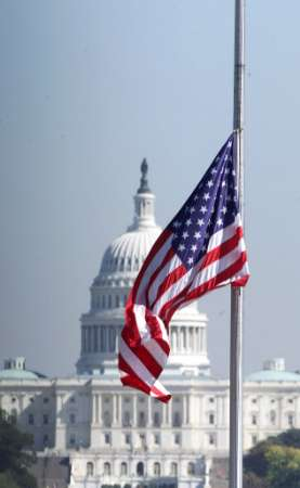 US flag at half staff for Gerald Ford