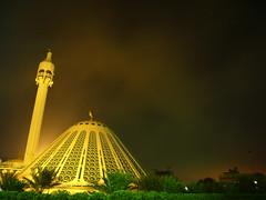 Eid Mobarak |   (radiant guy) Tags: light sky beautiful fog night amazing islam faith eid dramatic atmosphere mosque kuwait aura islamic adha q8 lonexposure    panasonicfx01 adhha