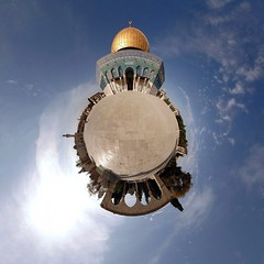 Planet Jerusalem :: Dome of the Rock - Temple Mount - Haram al-Sharif (Sam Rohn - 360 Photography) Tags: travel panorama architecture circle geotagged temple photography israel photo interesting nikon shrine arch peace palestine islam jerusalem middleeast paz 360 domeoftherock mosque panoramic medieval photograph sphere dome planet handheld pace antoinedesaintexupry escher filmmaking stitched holyland filmproduction 360x180 oldcity lepetitprince spherical invisiblecities islamic 360 paix palestina littleprince islamicarchitecture escheresque templemount mcescher 360x180 alquds locationscouting hyperbolic stereographic planetoid locationscout flexify 105mmf28gfisheye filmlocations haramalsharif muslimarchitecture polarpanorama nylocations samrohn littleplanets stereographicprojection smallplanets bestofpalestinegroup thelitttleprince filmscout geo:lat=31777614 geo:lon=35235225 lesamisdupetitprince