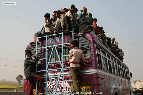 Overcrowded Bus, West Bengal