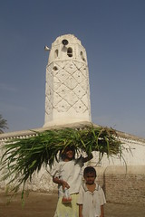 Girl (Jungle_Boy) Tags: travel gulf minaret muslim islam middleeast mosque arabia yemen 2007 whitewash zabid arabianpeninsula