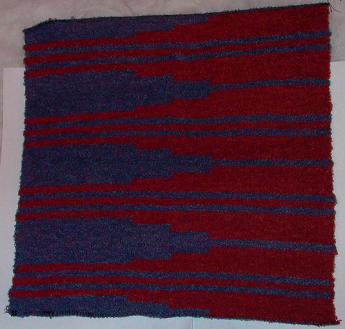 discontinuous weft
