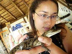 Celie with crocodile