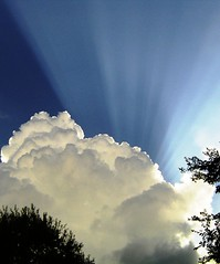 just before a summer storm (redjade75) Tags: sky clouds arkansas sunbeam unature diamondclassphotographer