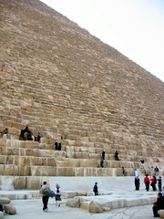 looking up (kexi) Tags: big december pyramid many egypt tourists cairo huge