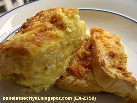 baked french toast - serve
