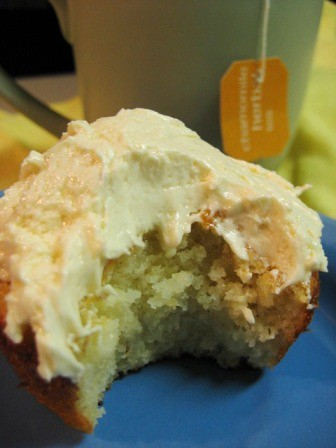 Vanilla Garlic: Chamomile Cupcakes with Honey Frosting