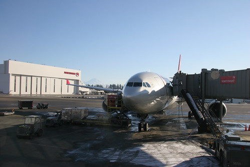 Northwest A330 at Seattle-Tacoma Airport