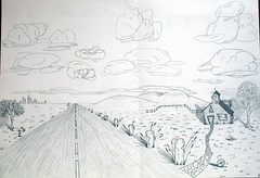 Andrew's Drawing - Vanishing Point Landscape
