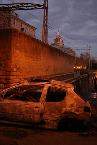 Still Life with Flamed Out Car and Duomo