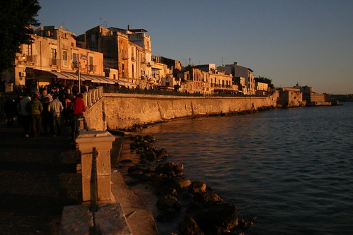 Siracusa's Lungomare at Sunset