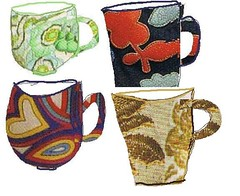 More Cups in My Cupboard (monettenriquez) Tags: cup tasse coffee caf illustration mugs tea cups th tasses