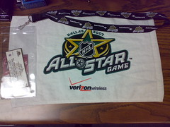 NHL All-Star Game souvenirs (Gadget Virtuoso) Tags: hockey nhl towel allstar lanyard nokian73 sounvenirs gadgetvirtuoso