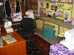 Sewing room 1-2007 009 (lisaquilts) Tags: sewing viking organization pfaff sewingmachines sewingroom elna sergers