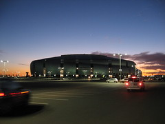 We parked in the parking lot for the Arizona Cardinals stadium, it is just gigantic (Dulamae) Tags: arizona hockey phoenix nhl penguins pittsburgh glendale sidney crosby coyotes