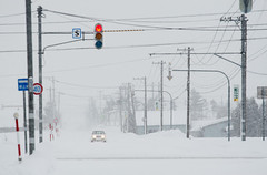 Hokkaido, Japan (Mingfong) Tags: winter white snow car japan hokkaido alone snowy january story return  albumcover lonely stories         mingfong musicflyer   mingfongjan    artbrochure  sketchoflight mingfongphotography