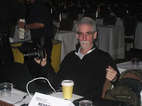 Dan Farber with camera & Coffee