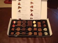 Chocolate tasting selection