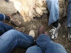Friends' Feet - For Martina (kahala) Tags: dru feet shoes pieds velo chaussures camargue balade jonathanhull katherinehala arlesbykahala