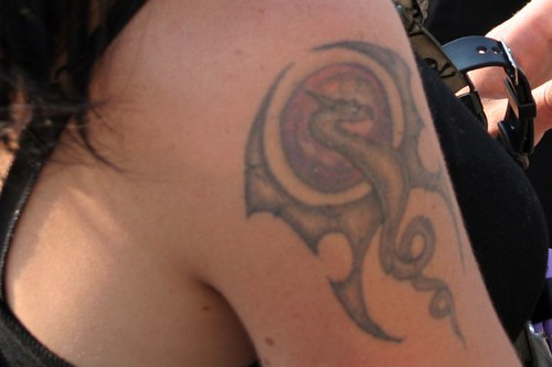 Woman with  dragon tattoo