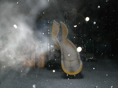 Snowy playtime (wyeaye84) Tags: nottingham snow playground night snowy slide radford recreationground